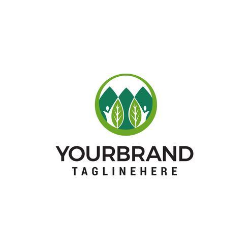 écologie logo design concept template vecteur