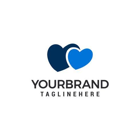 Diseño del ejemplo del vector de Logo Template de los pares del corazón del amor