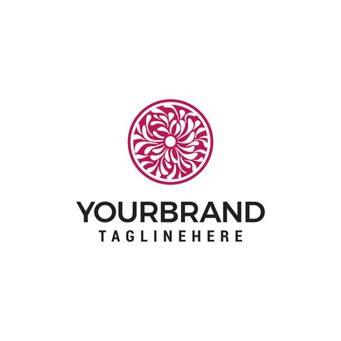 Vector logo van bloemenelement. ontwerp van natuurlijke producten, bloemenwinkel, cosmetica en ecologische concepten, holistische geneeskunde, gezondheid, rauw voedsel, spa-centrum.
