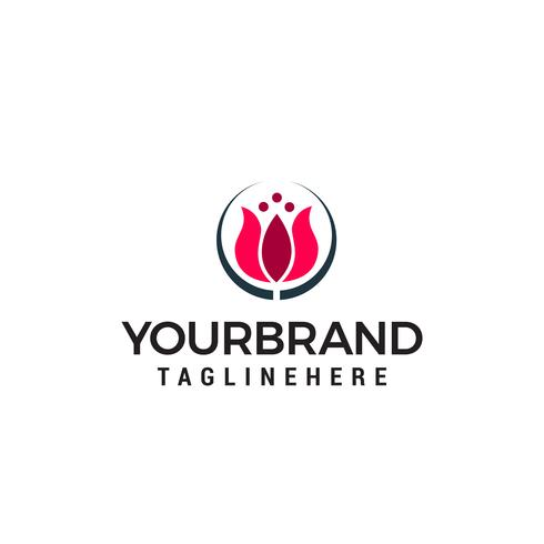 tulips logo design concept template vector