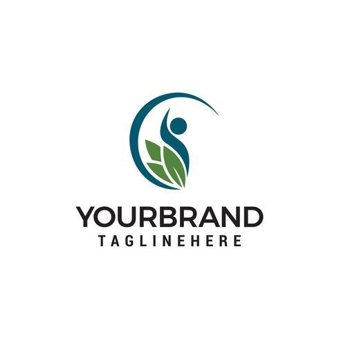 Gesunde Leute Logo entwirft Schablonenvektor