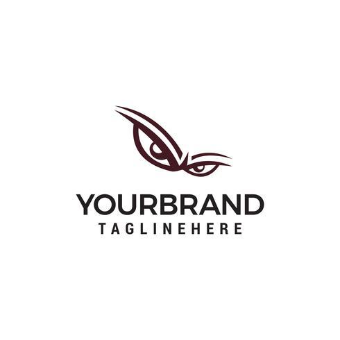 Gefahrenaugen, verärgertes Auge Logodesign-Vektorschablone