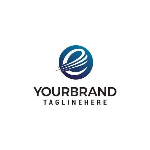 letra e logotipo design conceito modelo vector