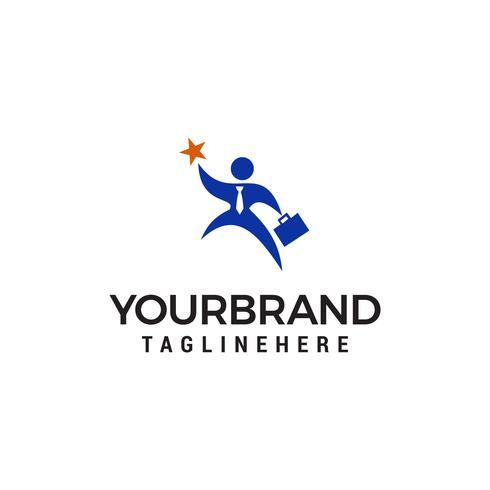 succesvolle werknemer logo ontwerp concept sjabloon vector