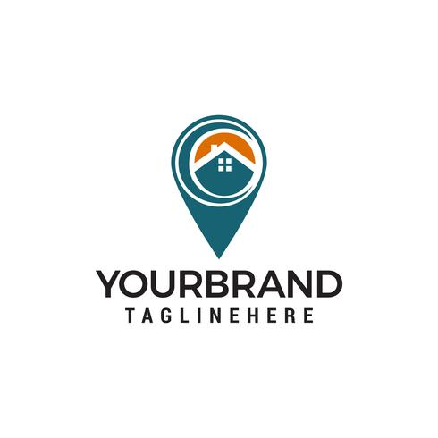 casa ubicación logotipo plantilla vector icono diseño