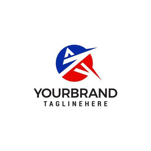 Un vecteur de modèle de concept lettre design cercle logo logo