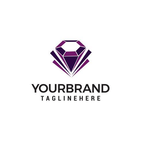 Diamant Schmuck Logo Design Konzept Vorlage Vektor