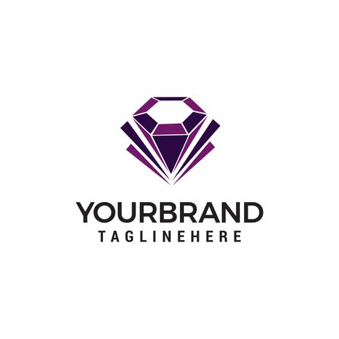 diamond jewelry logo design concept template vector