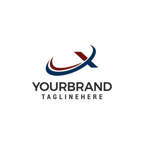 Diseño de ilustración de vector de letra X Logo plantilla