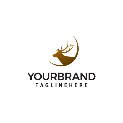 deer logo design concept template vector