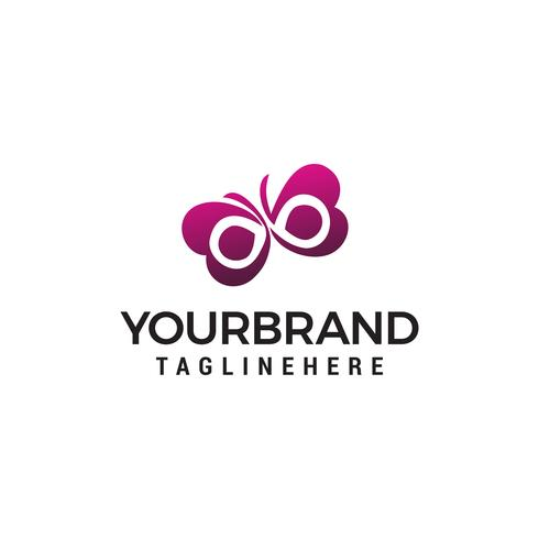 Vector de plantilla de concepto de diseño de logotipo de mariposa