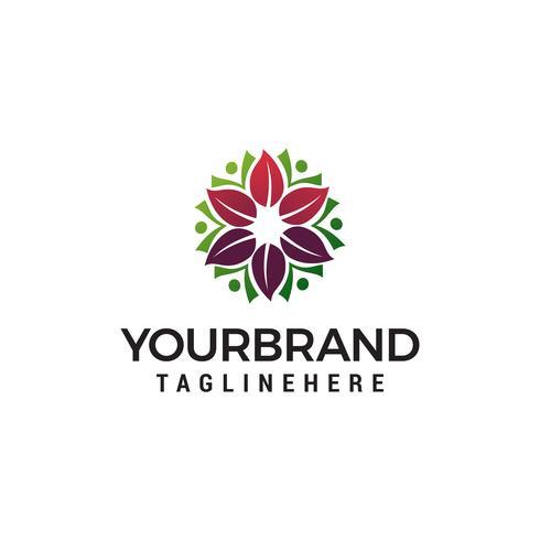 Logotipo de la flor cosmética del spa para el concepto de diseño de logotipo del salón de belleza te