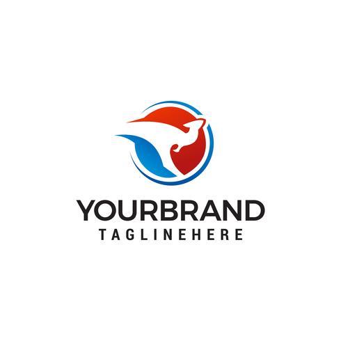 kangaroo logo design concept template vector