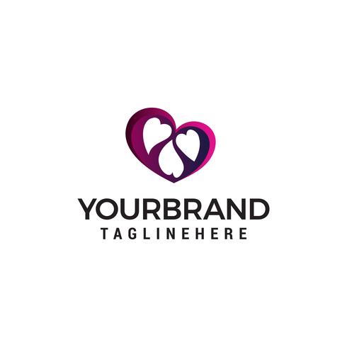 corazón plantilla de diseño de logotipo familiar vector plantilla