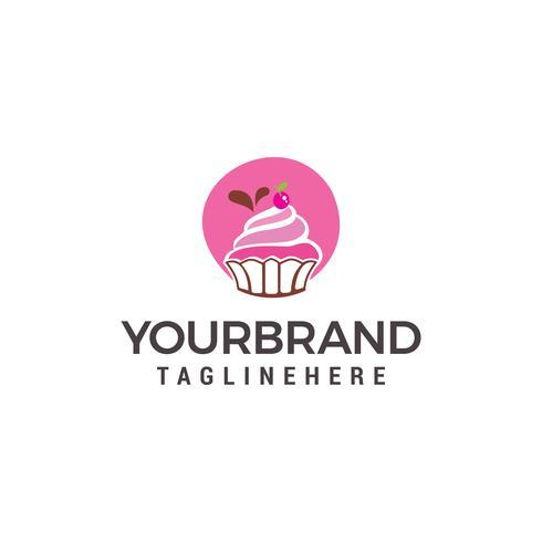 Pastel y galletas plantilla de diseño de logotipo vector