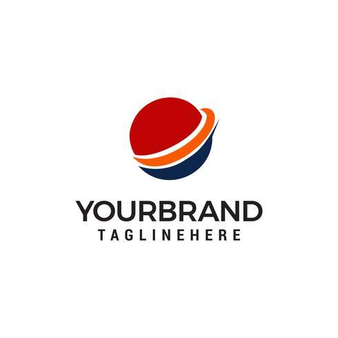 Plantilla de logotipo de vector de negocio de globo en plantilla de diseños azul y rojo