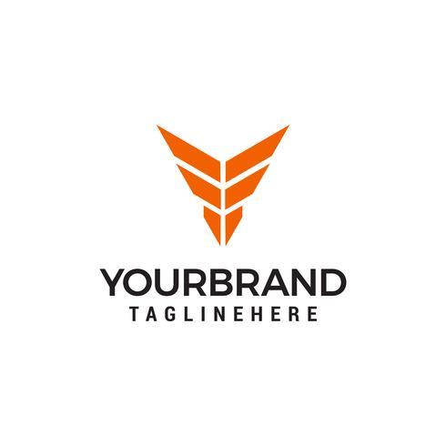 Letra Y emblema Logo diseños plantilla vector