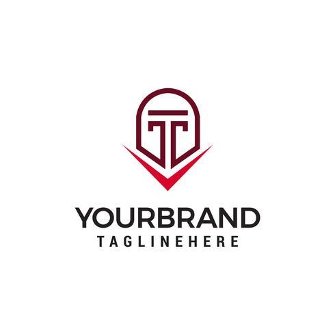 casque spartiate logo design concept template vecteur