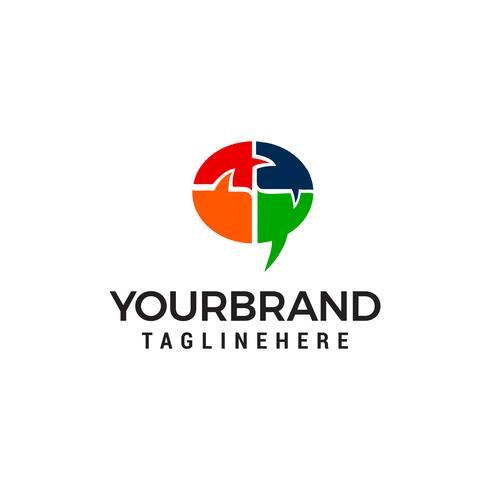 Chat logo design concetto modello vettoriale