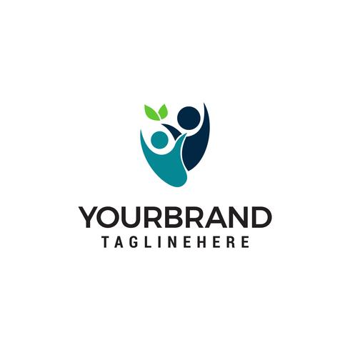 persone sano eco Logo disegni Template vettoriale