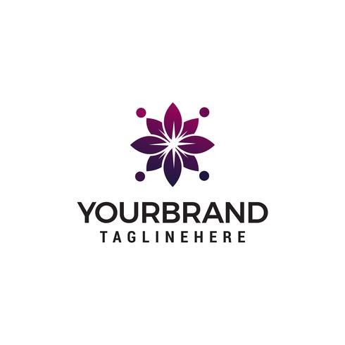 vector de plantilla de concepto de diseño de logotipo cosmético flor abstracta