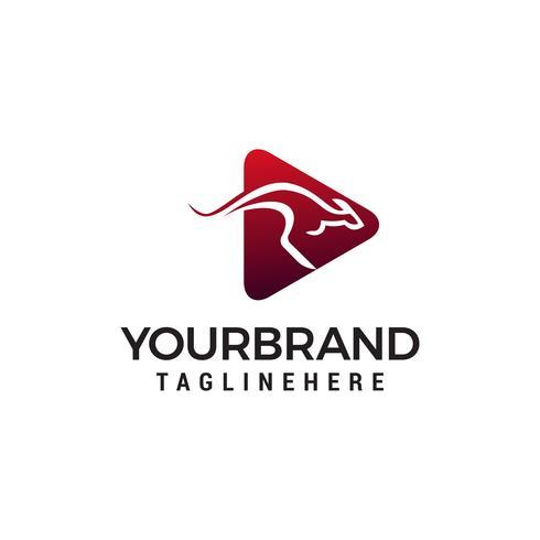 Kangourou logo design concept template vecteur