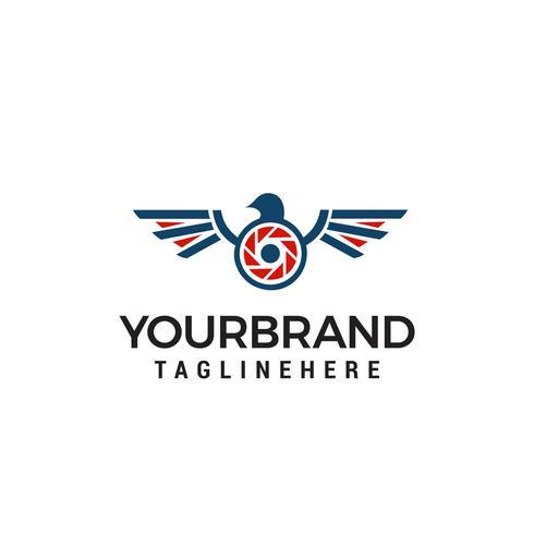 drone photographie logo design concept template vecteur