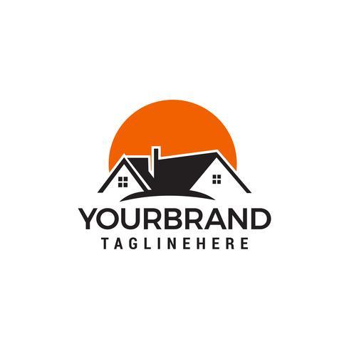 logo des maisons du soleil. Real Estate Logo designs Template vecteur