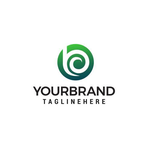 lettera b logo design concetto modello vettoriale