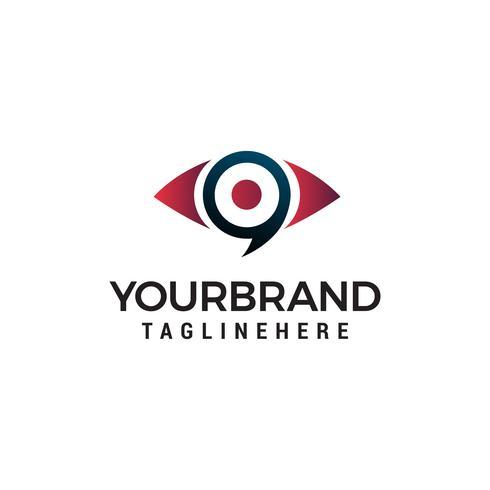 ögon media logo design koncept mall vektor