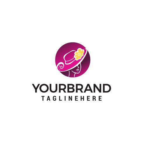 Frauen Mode Schönheit Logo Design Konzept Vorlage Vektor