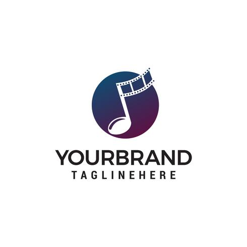 note musique symboles logo design concept template vecteur