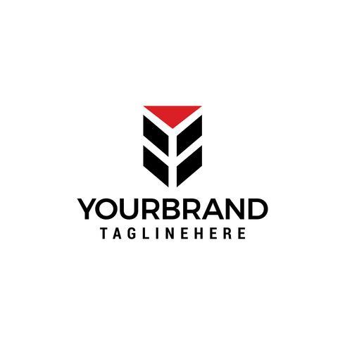 Letra Y logo diseño concepto plantilla vector