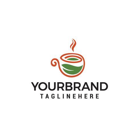Diseño de logotipo Green Nature Eco Coffee Cup vector