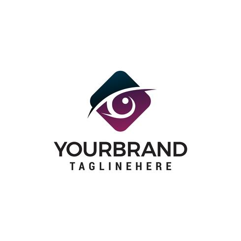 vector de plantilla de concepto de diseño de logotipo de hexágono de ojos