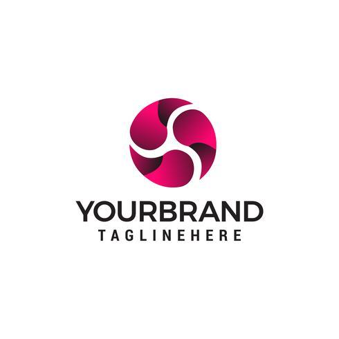 Energy rotates logo design concept template vector