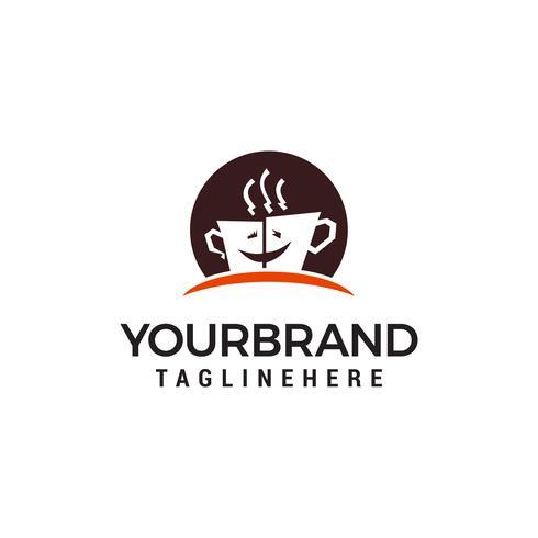 Vector de plantilla de concepto de diseño de logotipo de café