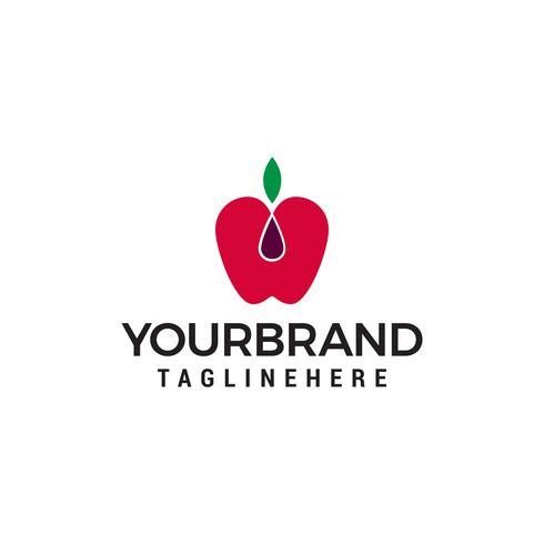 Apple fruit logo design concept template vecteur