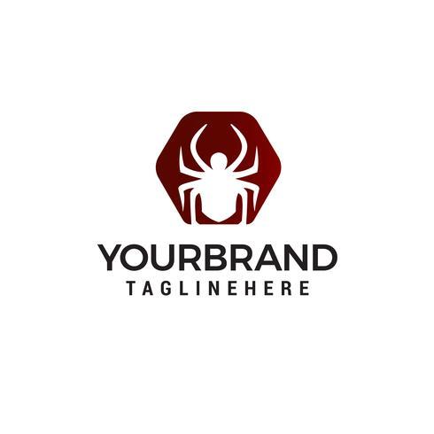 vettore del modello di concetto di progettazione di logo di ragno