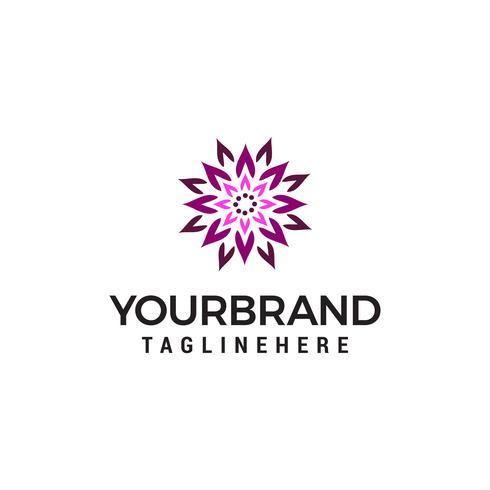 plantilla de concepto de diseño de logotipo de loto abstracto vector