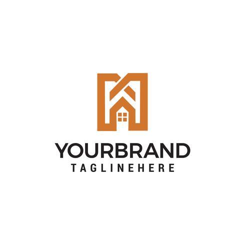 Letra M inmobiliaria signo logo icono diseño plantilla vector