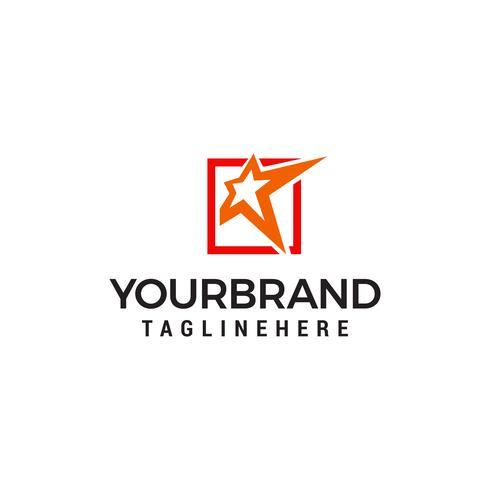 Conceito de design de logotipo de estrela vetor