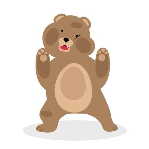lustige Karikaturvektorillustration des Braunbären