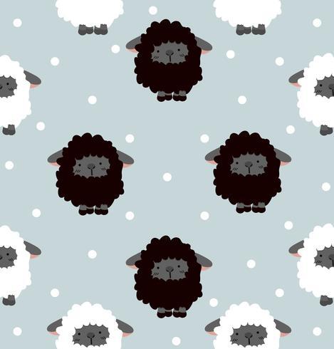 Oveja negra con patrón de punto sin costura vector