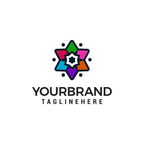 Modèle de concept étoile logo multicolore design