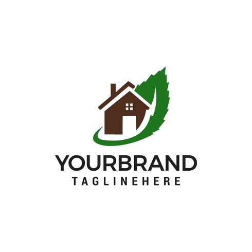 logotipo de la casa verde plantilla vector icono de diseño