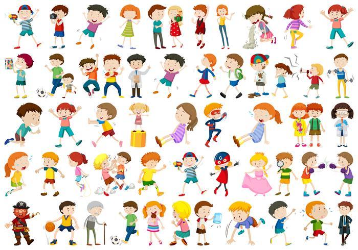 Conjunto de personajes de personas. vector