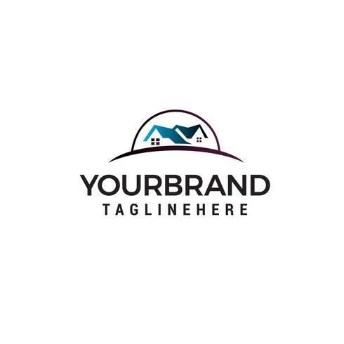 Vector de plantilla de concepto de diseño de logotipo de bienes raíces