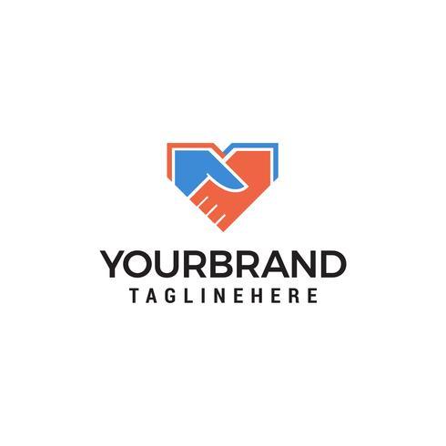 shake main logo design concept template vecteur