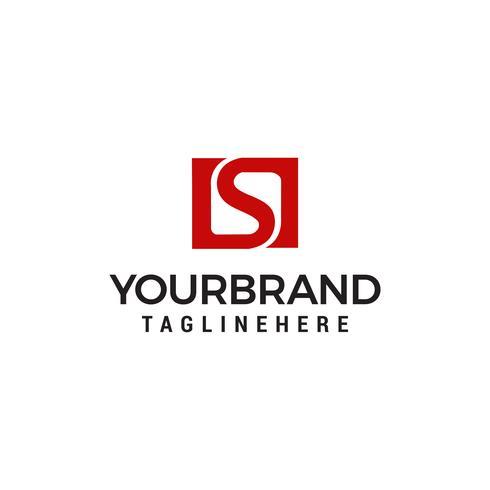 logo letter s square logo design concept